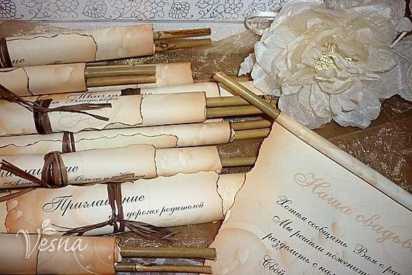 Фото 523012 в коллекции Приглашения - Vesna-Art - аксессуары для свадьбы