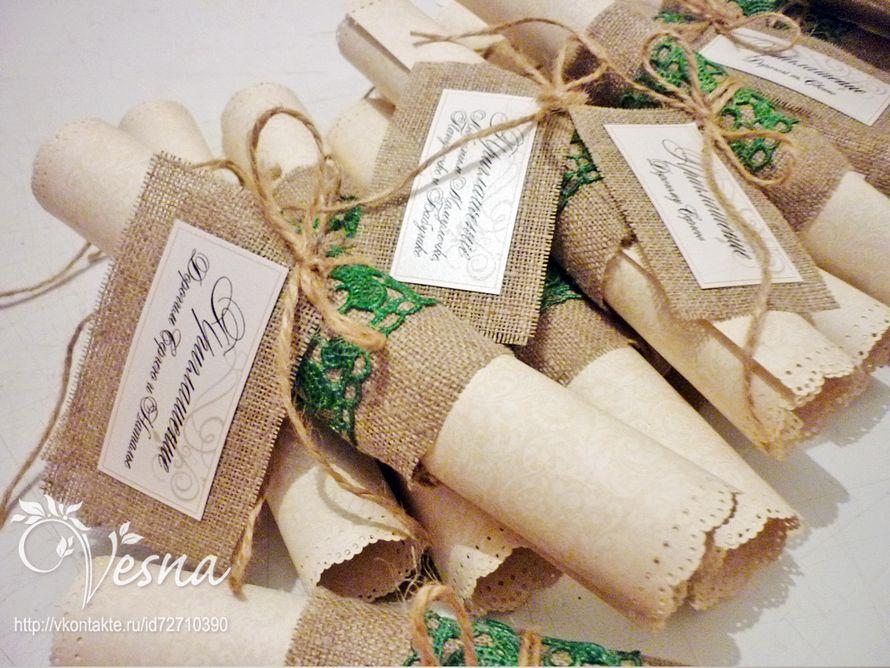 Фото 2459353 в коллекции Приглашения - Vesna-Art - аксессуары для свадьбы