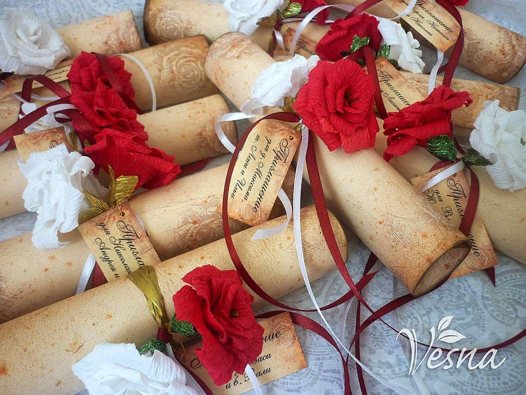 Фото 2459457 в коллекции Приглашения - Vesna-Art - аксессуары для свадьбы