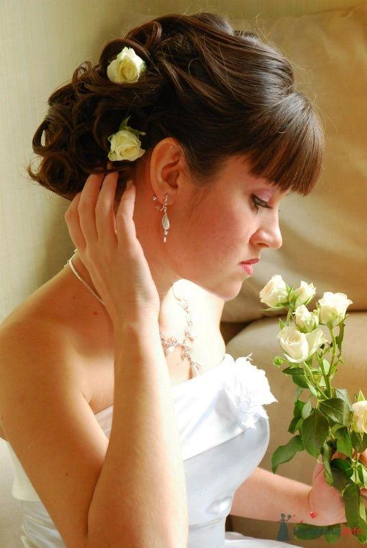 свадебная причёска с живыми цветами - фото 46416 Свадебный стилист Татьяна Мартынова