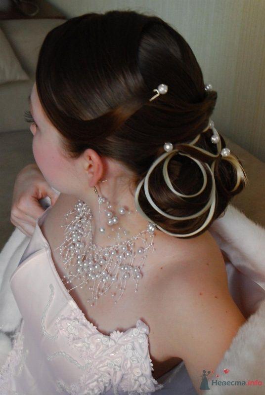 свадебная причёска  из длинных волос - фото 67068 Свадебный стилист Татьяна Мартынова