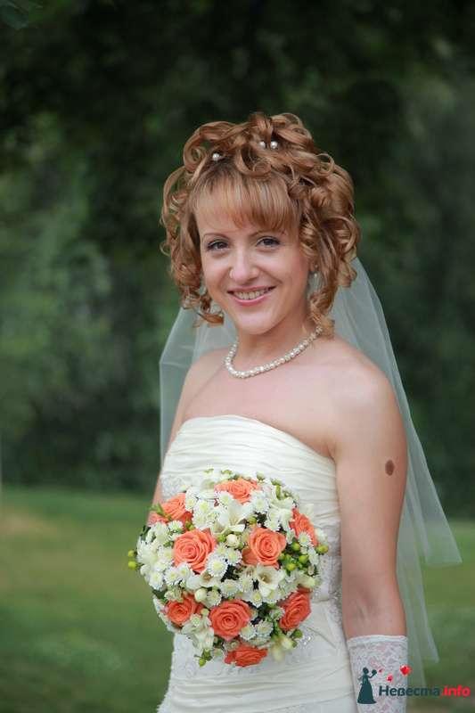 свадебная причёска из волос средней длинны - фото 123351 Свадебный стилист Татьяна Мартынова