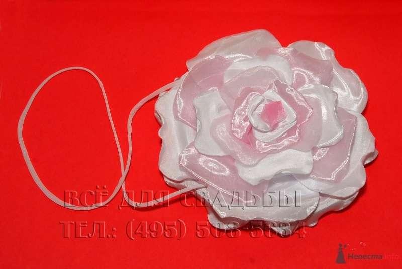 """Арт.124-003 Сумочка для невесты в форме цветка, цвет розовый - фото 45317 """"Все для свадьбы"""" - салон аксессуаров и услуг"""