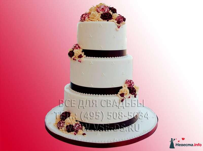 """Фото 81881 в коллекции Свадебные торты - """"Все для свадьбы"""" - салон аксессуаров и услуг"""