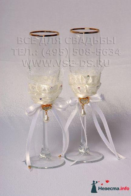 """Свадебные бокалы. Арт. 114-036 - фото 112327 """"Все для свадьбы"""" - салон аксессуаров и услуг"""
