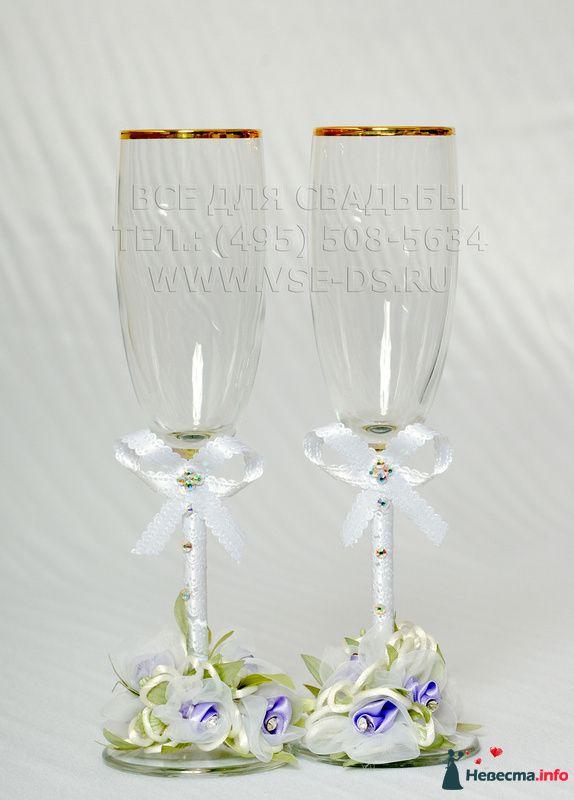 """Свадебные бокалы. Арт. 114-025 - фото 113717 """"Все для свадьбы"""" - салон аксессуаров и услуг"""
