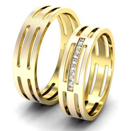 Обручальные кольца с 9-ю бриллиантами