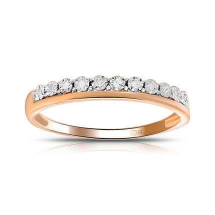 Изящное обручальное кольцо с бриллиантами. На заказ