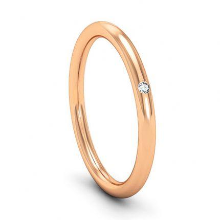 Классическое обручальное кольцо с бриллиантом. На заказ
