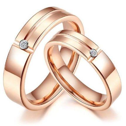 Обручальные кольца с бриллиантом. На заказ