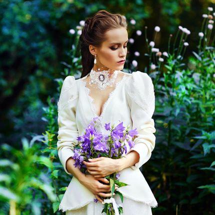 """Пальто для невесты с чокером """"Волнующая Эвелин"""""""