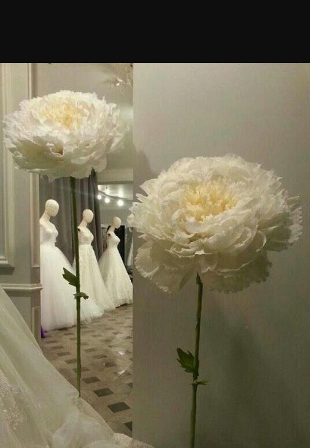 Белые цветы на ножке из бумаги своими руками 27