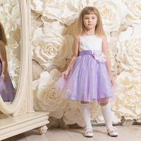 """Детское платье """"Вероника"""" . Очаровательное нежное вечернее платье с сиреневой юбкой для девочки  на 3-5 лет. ( рост 105- 116см) Стоимость проката 450 руб на 2-3 дня"""