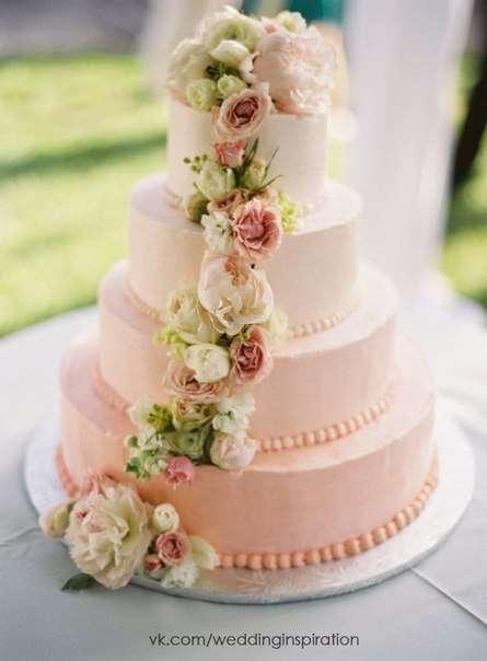 Фото 16473118 в коллекции Свадебный торт с Живыми цветами - Свадебное агентство Monte Carlo