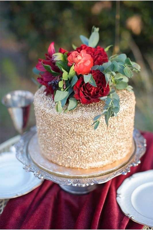 Фото 16473192 в коллекции Торты в Бордовом цвете - Свадебное агентство Monte Carlo