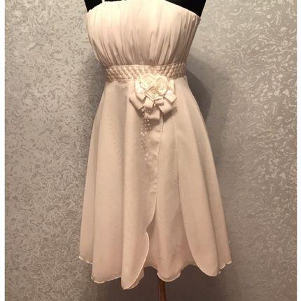 Короткое свадебное платье на лямочках, 40-44