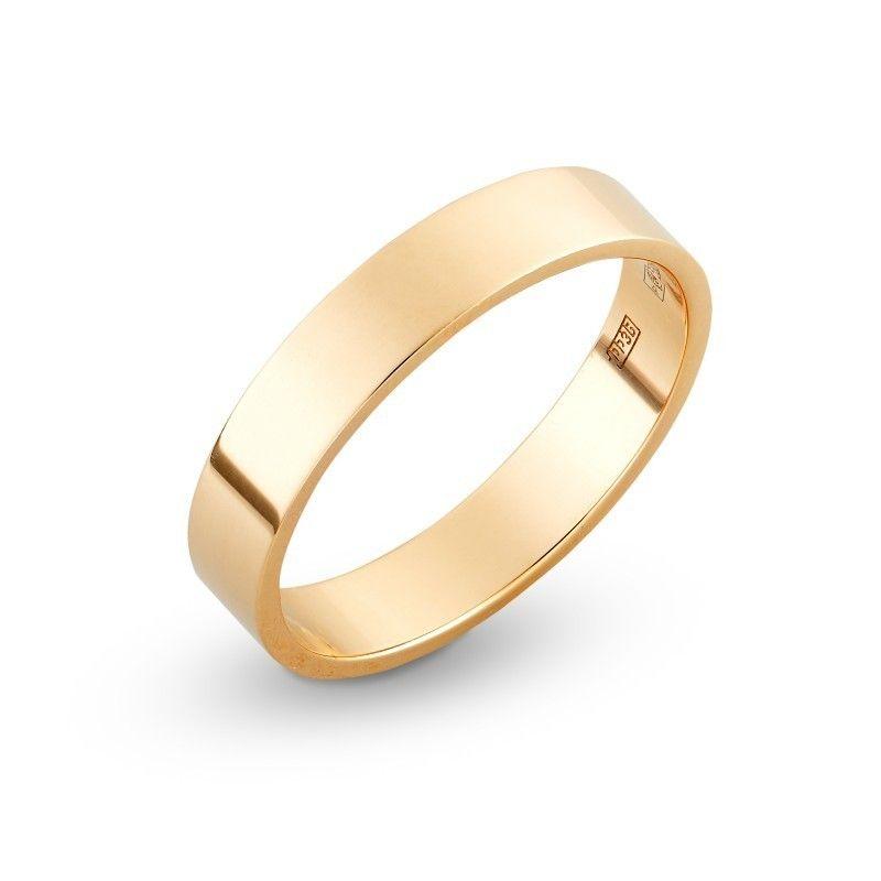 Классическое гладкое обручальное кольцо