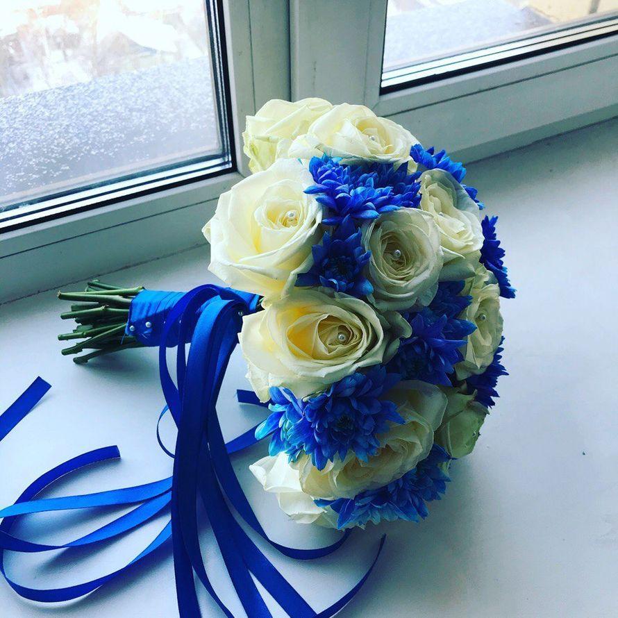 Свадебные букеты синего цвета недорого в спб, цветы пригородный сыктывкар