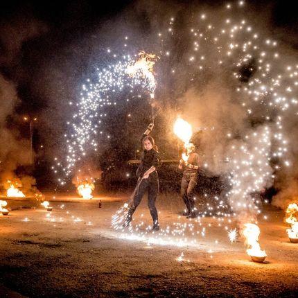 Огненное фаер-шоу