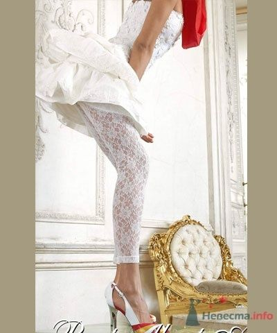 """Белые кружевные леггинсы для невесты на свадьбу - фото 1821 Сеть супермаркетов белья и колготок """"Стильпарк"""""""