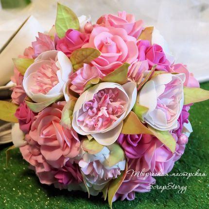 """Букет невесты """"Розовая нежность"""""""