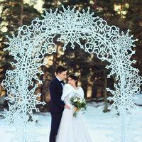 Зимняя свадьба в Домбае Фото: [id16233391|Роман Склейнов]