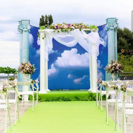"""Оформление свадьбы - """"На седьмом небе от счастья"""""""