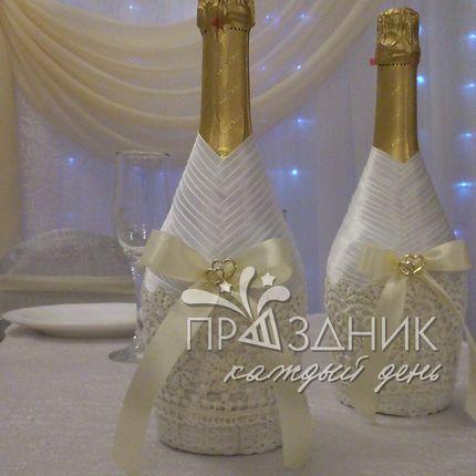 Декорирование бутылок шампанского
