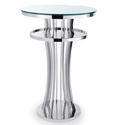 Барный столик, серебряный