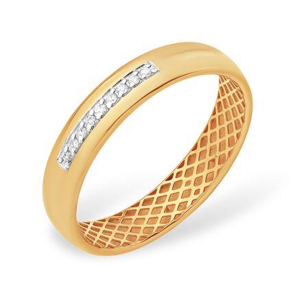 Кольцо из красного золота 585 с бриллиантами, арт. 4