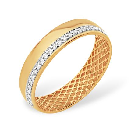Кольцо из красного золота 585 с бриллиантами, арт.2