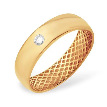 Кольцо из красного золота 585 с бриллиантами, арт. 1
