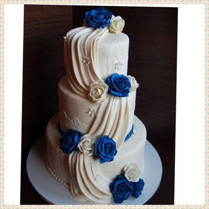 Свадебный мастичный торт 2