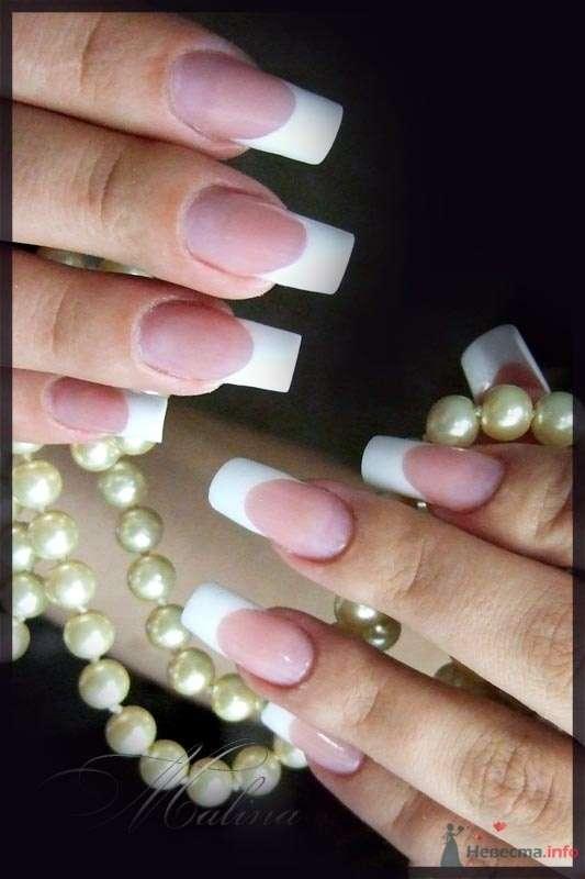 классический френч - фото 47106 Наращивание ногтей - частный мастер Malina
