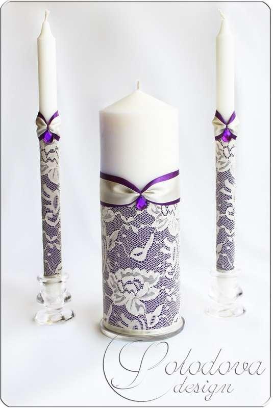 Как декорировать свечу своими руками на свадьбу