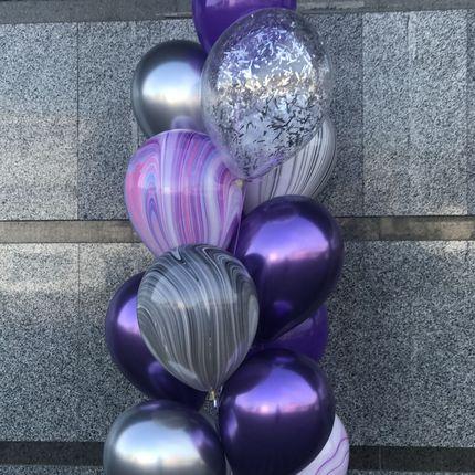 Агат и хром - оформление шарами
