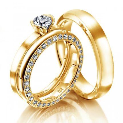 Обручальные кольца из желтого золота Артикул: 3Жз