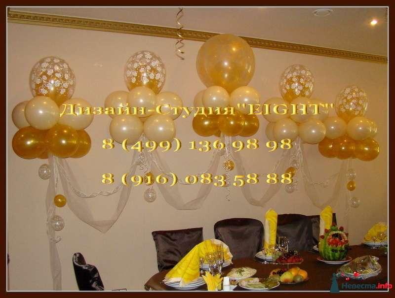 """Фото 110831 в коллекции Оформление воздушными шарами - """"Эйт"""" - оформление свадьбы воздушными шарами"""