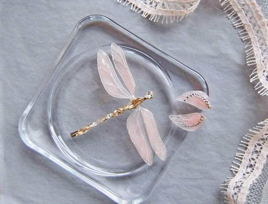 заколочка стрекоза из кристаллов swarovski от Марии Евсеенко - фото 17200758 Мария Евсеенко - ювелирные украшения