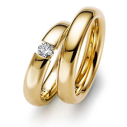 Обручальное кольцо с бриллиантом W0060