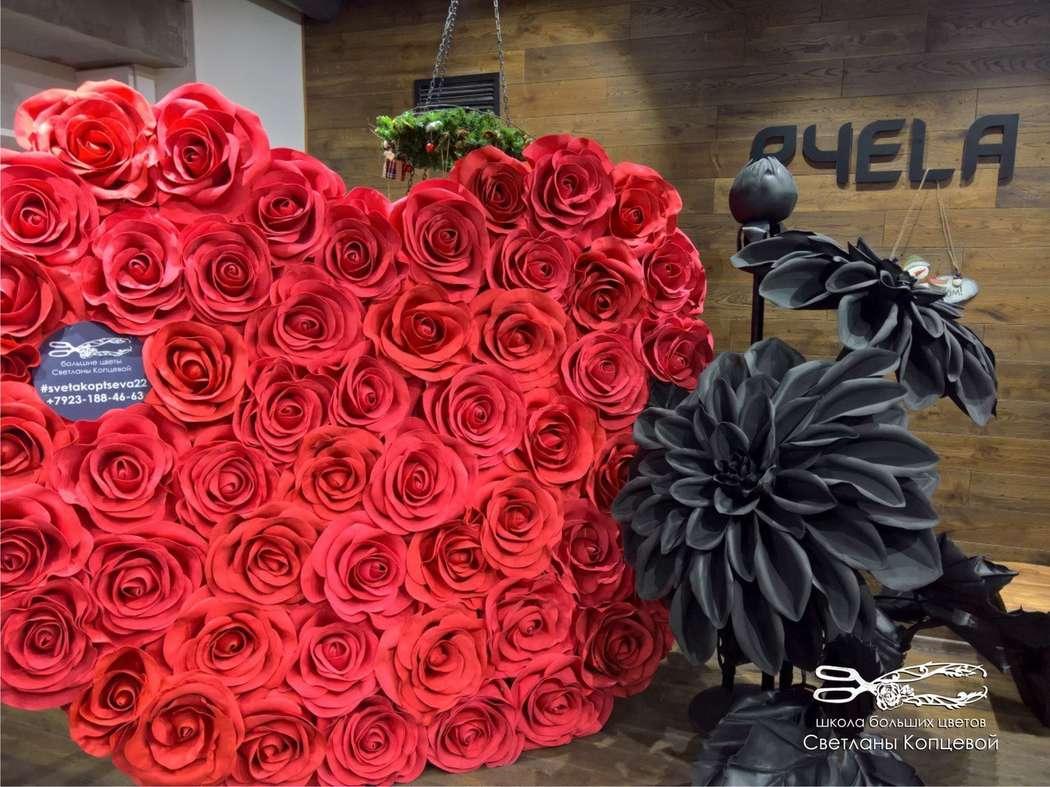 Сердце из роз - фото 17258564 Мастерская больших цветов Светланы Копцевой