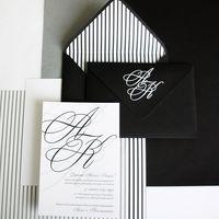 """Приглашение """"Black and White"""", 1 шт."""