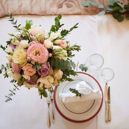Флористические композиции на стол молодоженов