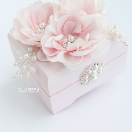 """Шкатулка для колец """"Розовые цветы"""""""
