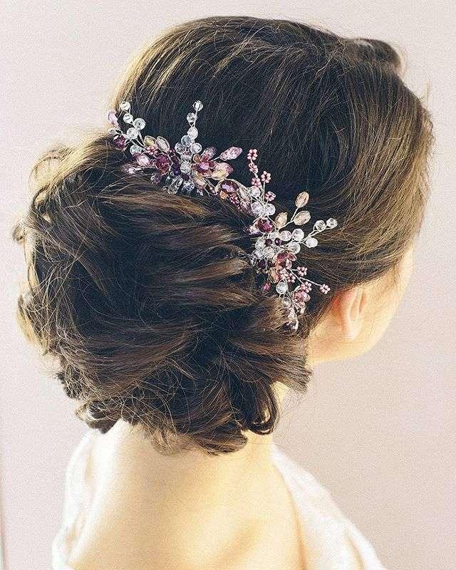 Свадебная заколка в прическу для невесты 1650 руб. - фото 17548956 Екатерина Захарова - украшения для волос