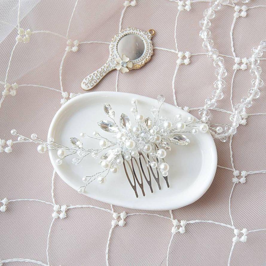 Свадебный гребень для невесты 1100 руб. - фото 17549068 Екатерина Захарова - украшения для волос
