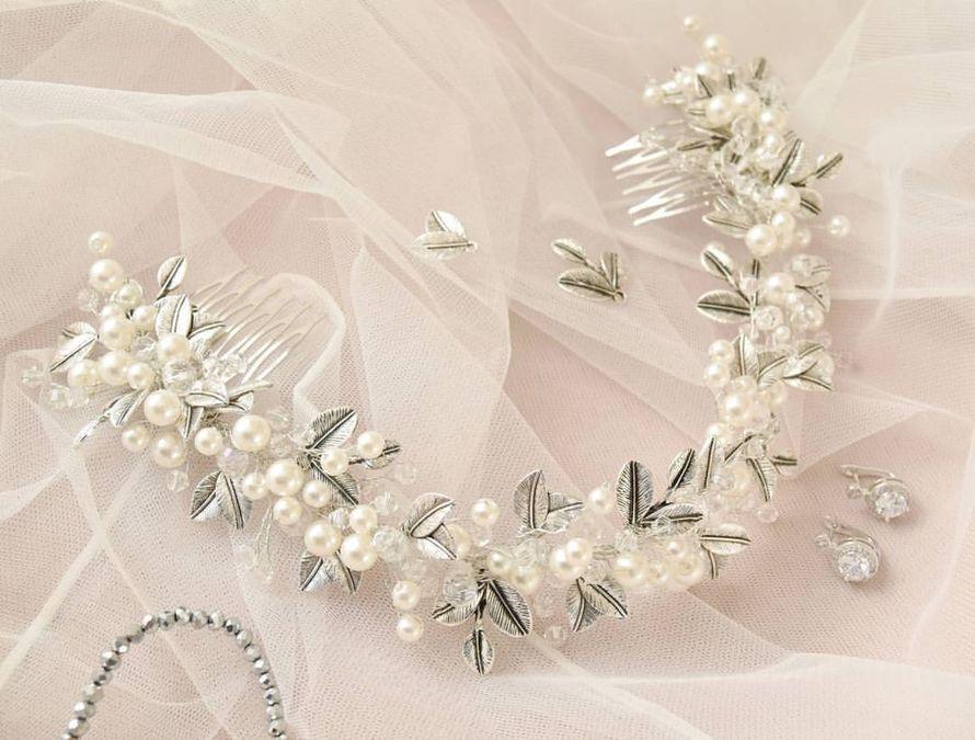 Свадебный веночек для прически Стоимость 2000 руб. - фото 17549100 Екатерина Захарова - украшения для волос