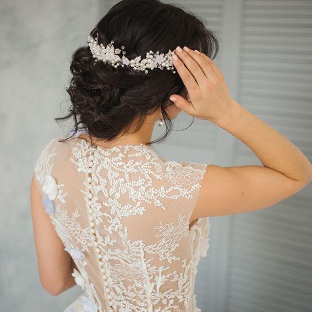 Свадебный венок для прически. Стоимость 1900 руб. - фото 17549140 Екатерина Захарова - украшения для волос