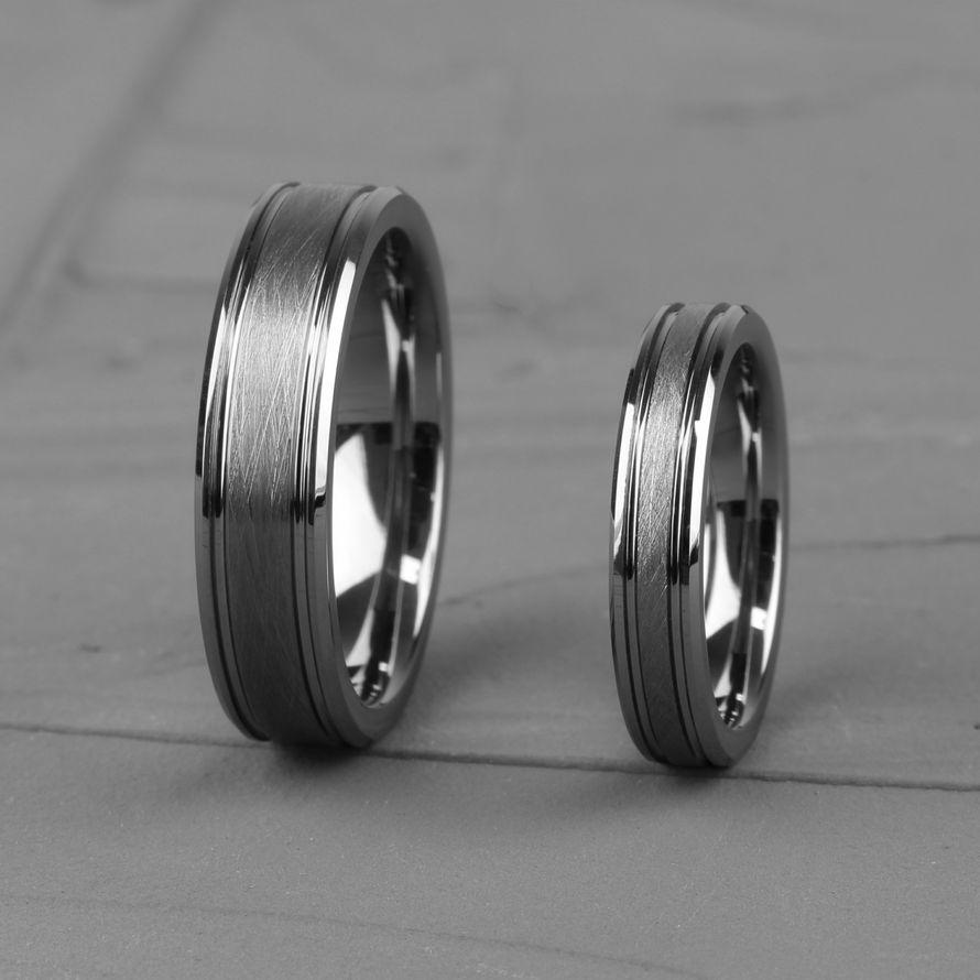Парные кольца из вольфрама (R-TG-1180)
