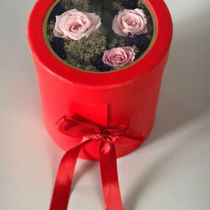 Подарочная коробка цветов - Первая любовь